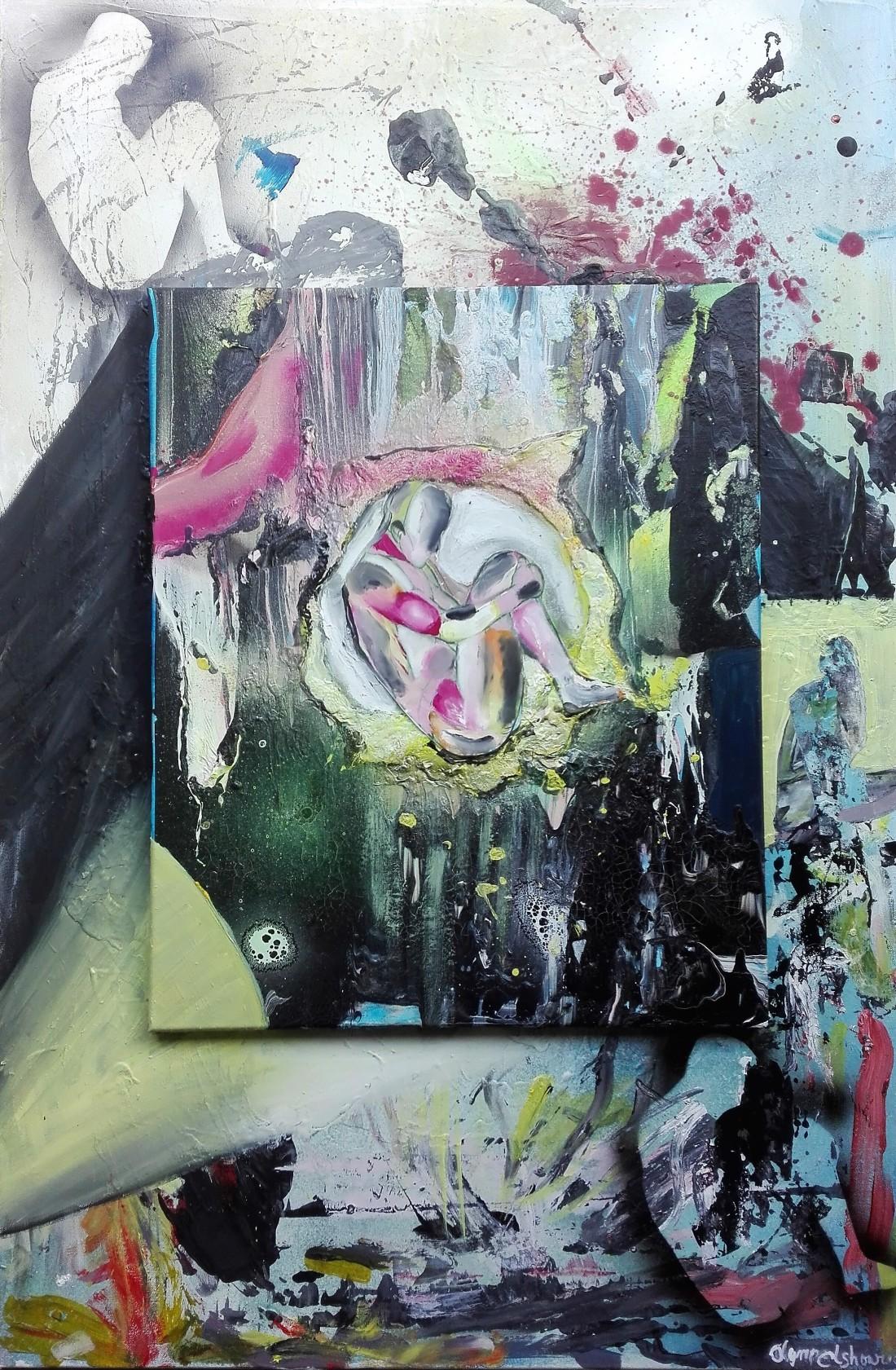 REPLICAT MIXED MEDIA 115X75 - double canvas