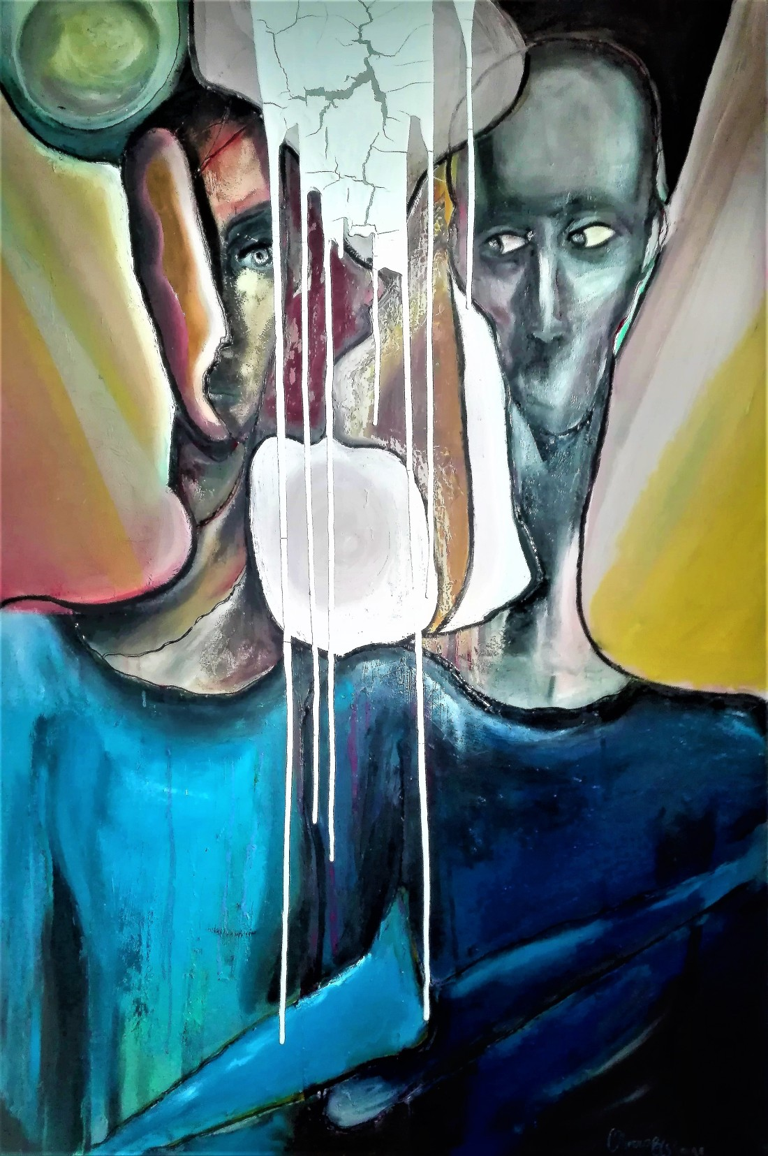 Can you see it 115X75 mixed media